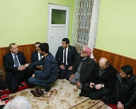 Cumhurbaşkanı Recep Tayyip Erdoğan'ın Şanlıurfalı Şehit Enes Çiçek'in ailesini ziyaret etti.