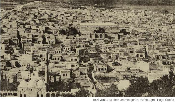 1906 Yılında Kaleden Urfa'nın görünümü-Fotoğraf Hugo Grothe