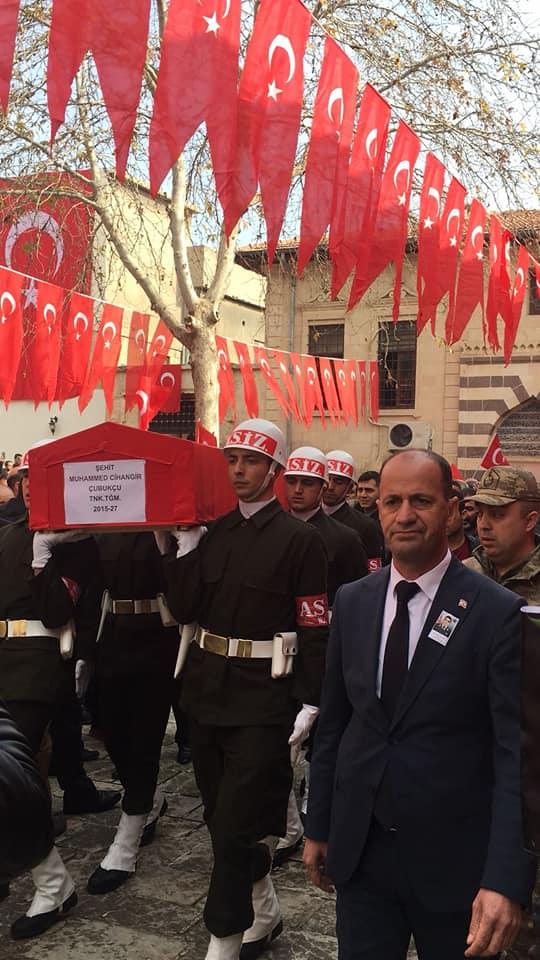 Suriye Afrin ŞeyhHoroz Mevkisinde Şehit olan Şanlıurfa Şehit Muhammed Cihangir Çubukçu Şanlıurfa'da Son Yolculuğuna Uğurlandı.