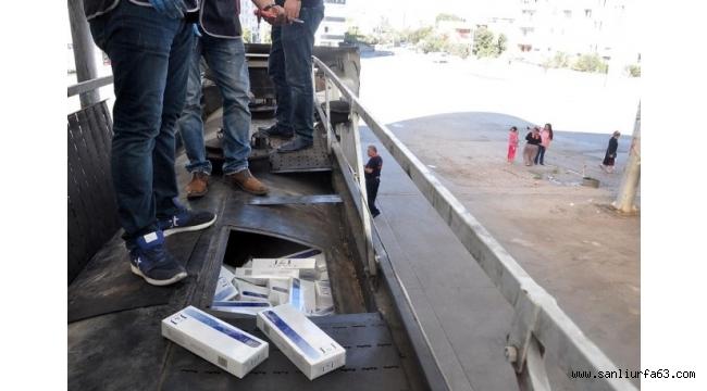 Akaryakıt tankerinden 51 bin paket kaçak sigara çıktı