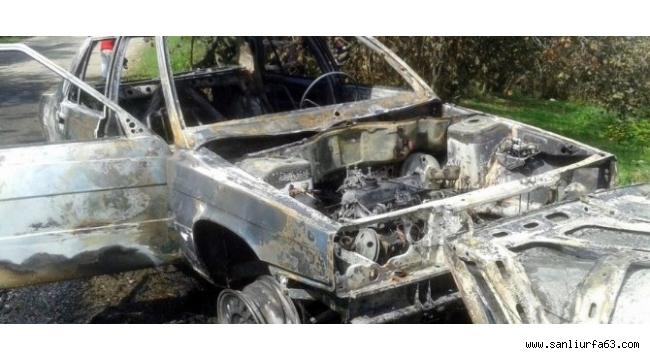 Akçakoca'da araç yangını