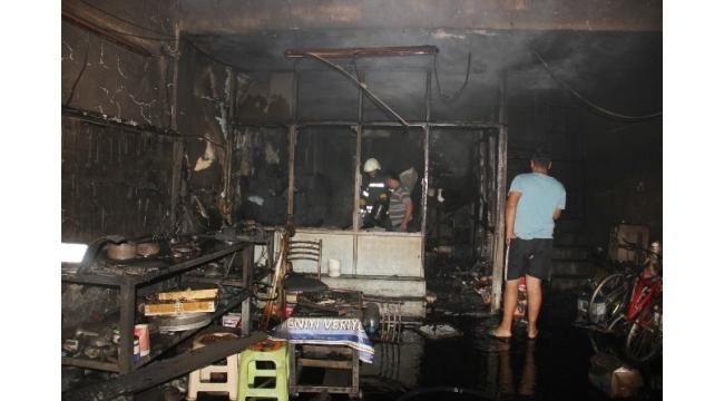 Bafra Sanayi Sitesi'nde yangın