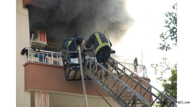 Bayram ziyaretine giden ailenin evi yandı