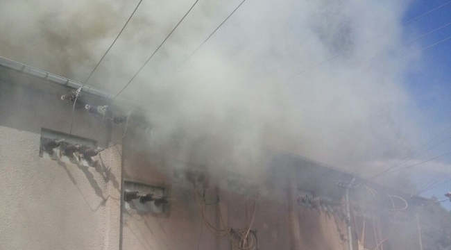 Birecik'te Trafo patlaması paniğe neden oldu