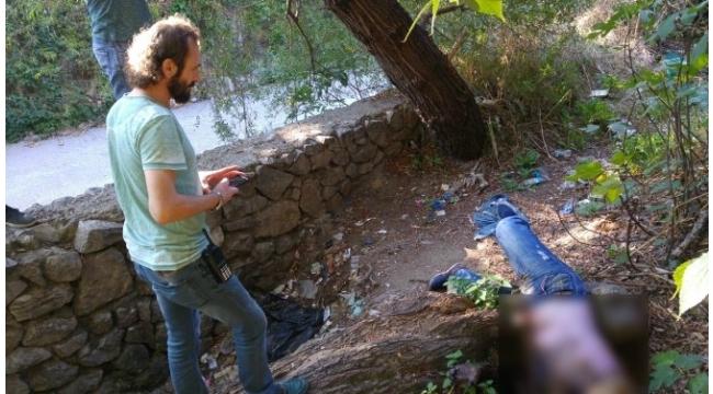 Bursa'da dere kenarında esrarengiz ceset