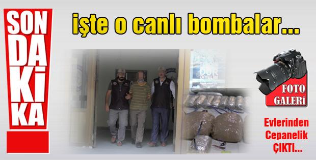 Canlı bombaların evinden cephanelik çıktı