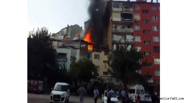 Denizli'de yangın