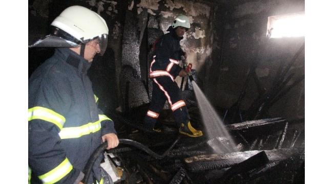 Elazığ'da bodrum katta çıkan yangın korkuttu