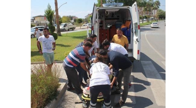 Gazipaşa'da trafik kazası: 1 yaralı