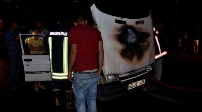 Hareket halinde ki otomobil yandı