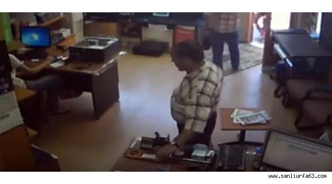 İş yerinden hırsızlık kameraya yansıdı