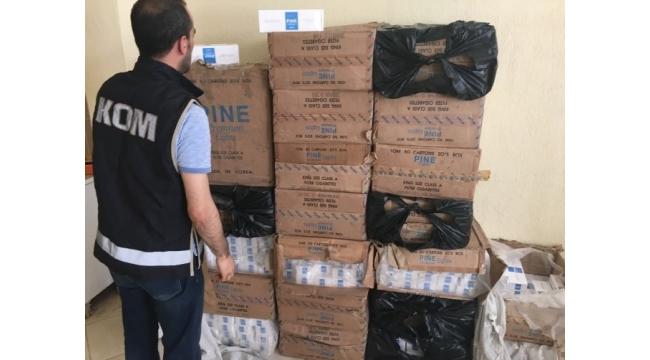 İzmir'de kaçak sigara operasyonları