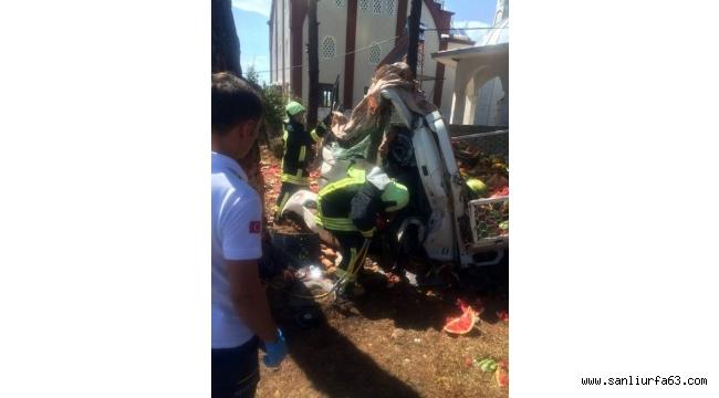 Kamyonet yol kenarındaki ağaca çarptı: 1 ölü