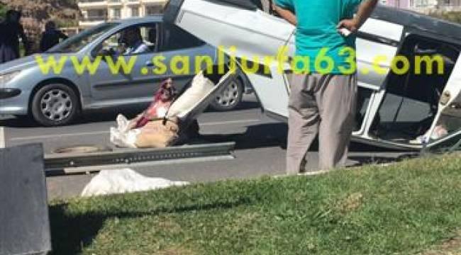 Karaköprü'de kaza korkuttu