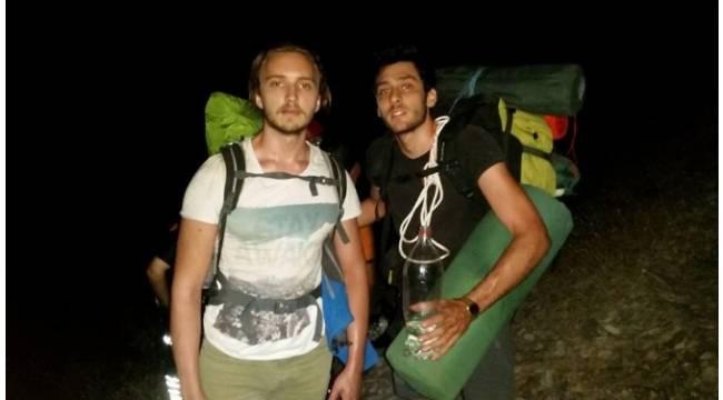 Kazdağlarında mahsur kalan iki dağcı kurtarıldı