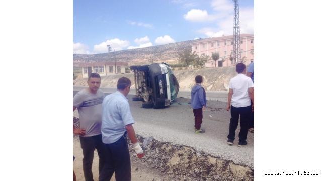 Kilis'te araç devrildi: 7 yaralı