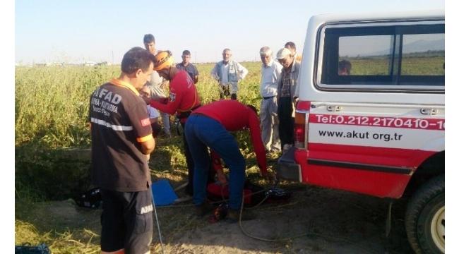 Kuyuya düşen keçiyi AKUT ve AFAD ekipleri kurtardı