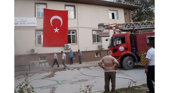 Lapseki'de hastanede yangın paniği
