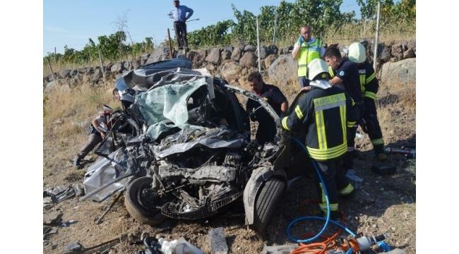 Manisa'da TIR ile otomobil çarpıştı: 1 ölü