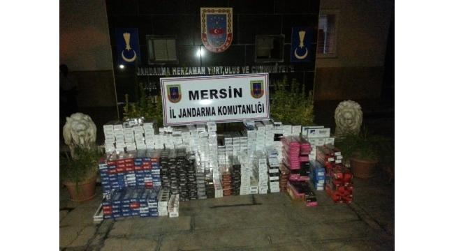 Mersin'de 8 bin paket kaçak sigara ele geçirildi