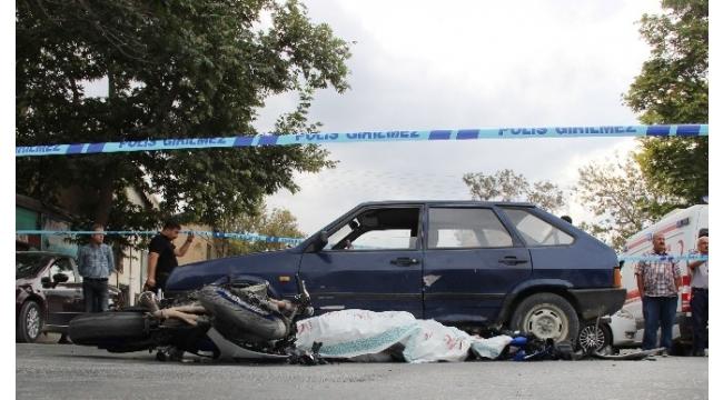 Otomobil ile motosiklet çarpıştı: 1 ölü