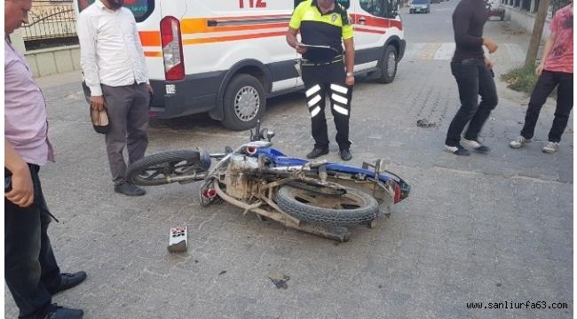 Otomobil motosiklete çarpıp kaçtı