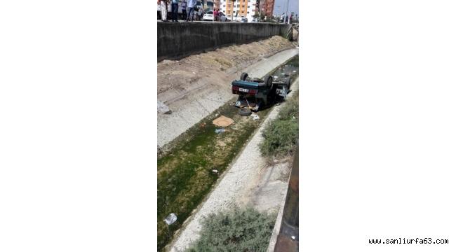 Otomobil sulama kanalına düştü: 3 yaralı