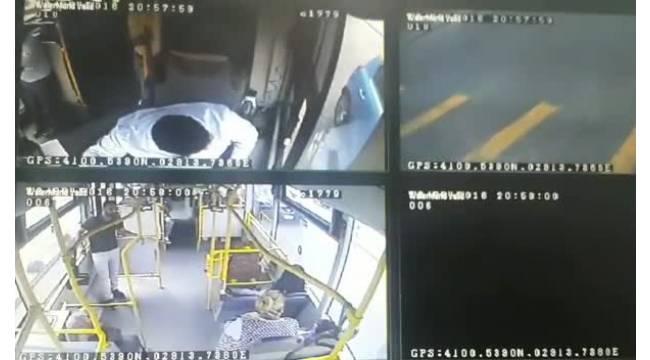 Özel halk otobüsü şoförüne ateş edilmesi kamerada