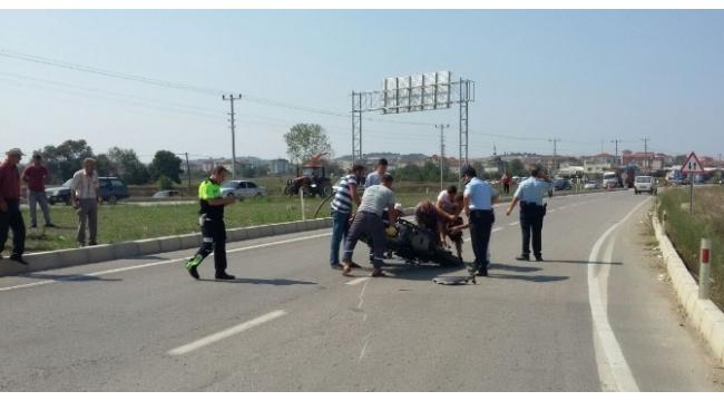 Panelvan ile motosiklet çarpıştı: 1 ölü