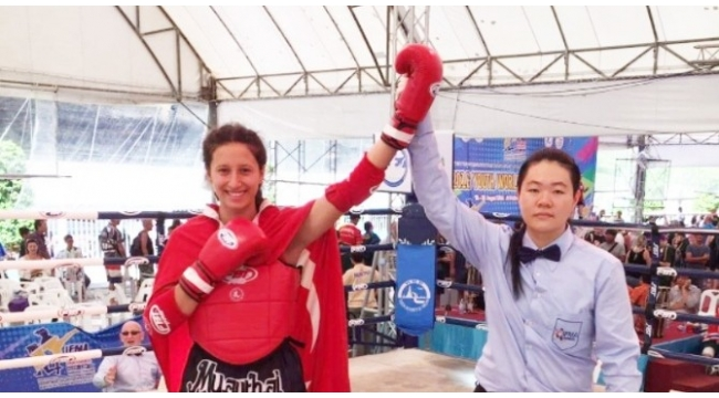 Samsunlu milli sporcu Tuğçe Akkuş altın madalya kazandı