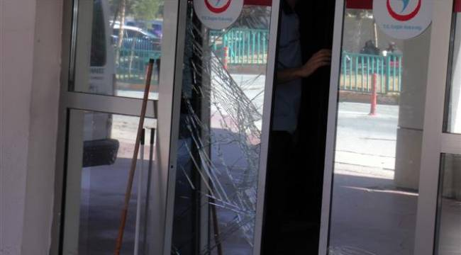Şanlıurfa'da Hırsız hastanenin kapısını kırdı