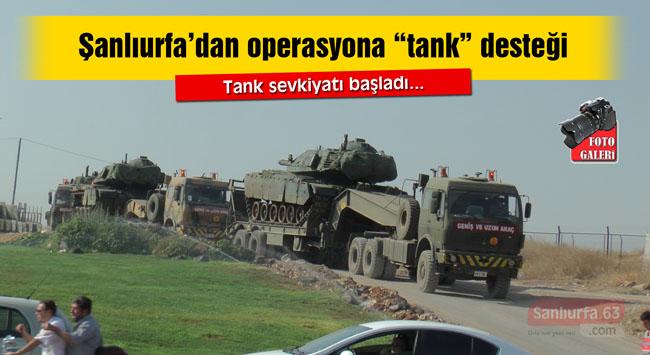 Şanlıurfa'dan Karkamış'a tank sevkiyatı