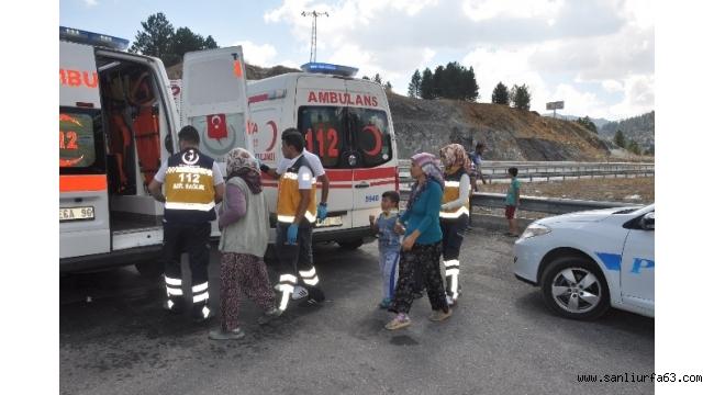 Seydişehir'de iki otomobil çarpıştı: 9 yaralı