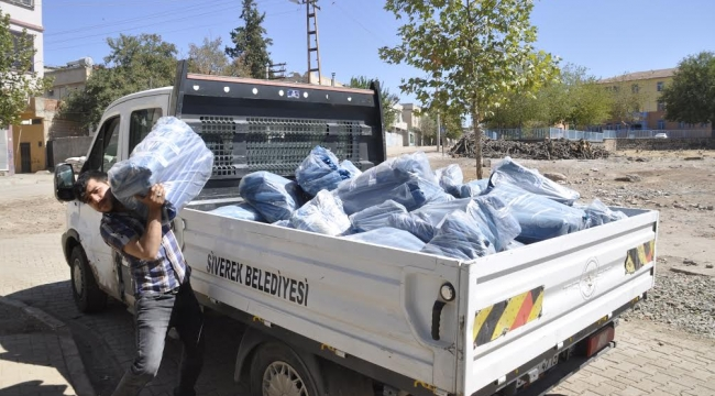 Siverek'te 50 bin Kurban atık poşeti dağıtıldı