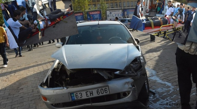 Siverek'te Trafik kazası, 3 Yaralı