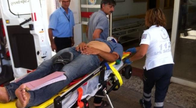 Takla atan motosikletteki 2 kişi yaralandı