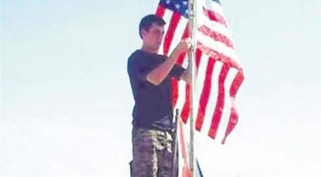 Telabiyata bayrağı asan ABD'li çıktı