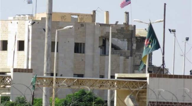 Telabyat'ta Gümrük binasında ABD bayrağı asılı kaldı