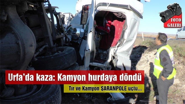 Tır ve kamyon şarampole uçtu: 2 yaralı