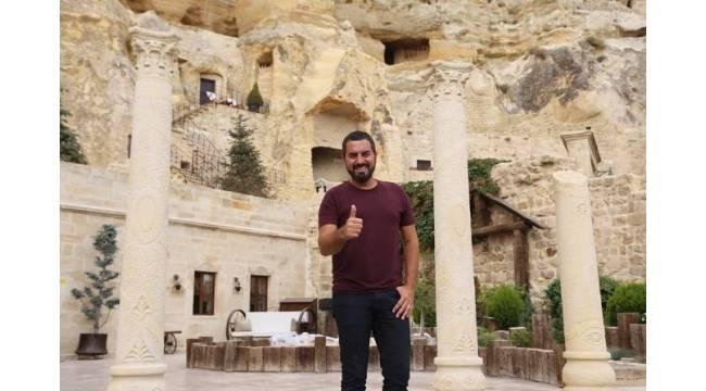 Turgay Başyayla tatilini Kapadokya'da geçiriyor