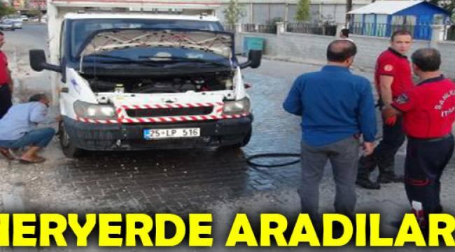 Urfa'da araçta yılan korkusu