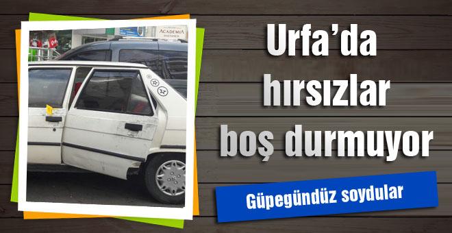 Urfa'da hırsızlar boş durmuyor