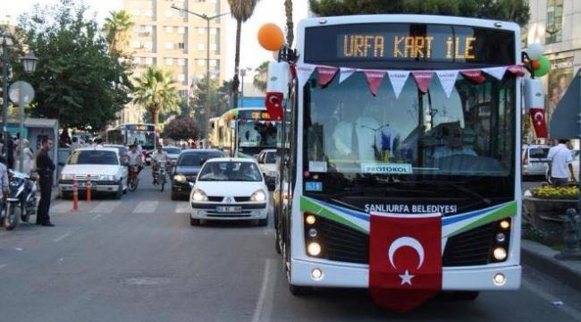 Urfa'da Kurban Bayramında Otobüsler ücretsiz