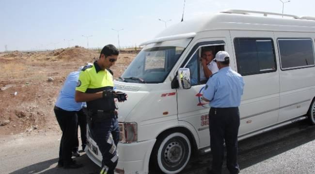 Urfa'da Öğrenci servisleri denetlendi