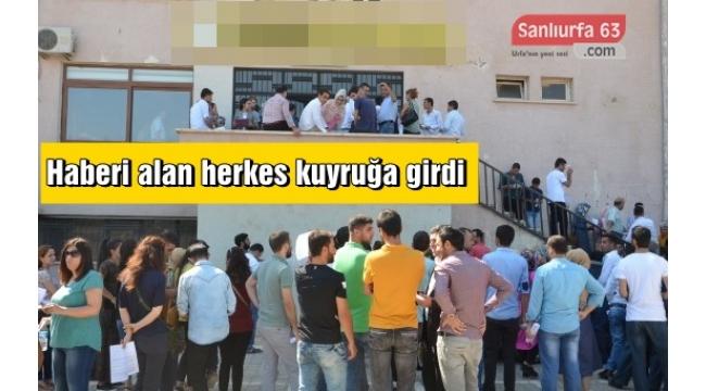 Viranşehir'de Sözleşmeli öğretmenler için mülakatlar başladı