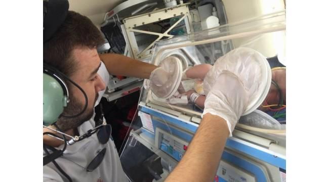 2 günlük bebek için ambulans helikopterler seferber oldu