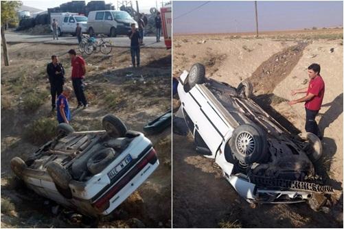 Adıyaman, Urfa yolunda kaza 6 Yaralı