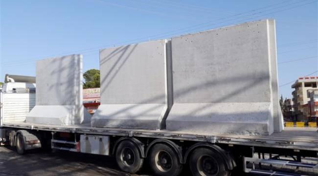 Akçakale-Suriye sınırına beton duvar