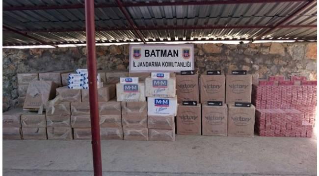 Batman'da 75 bin 940 paket kaçak sigara ele geçirildi