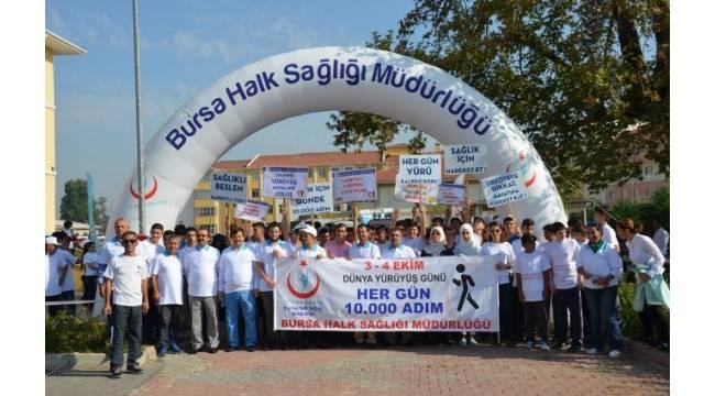 Bursa'da sağlıklı hayat yürüyüşü